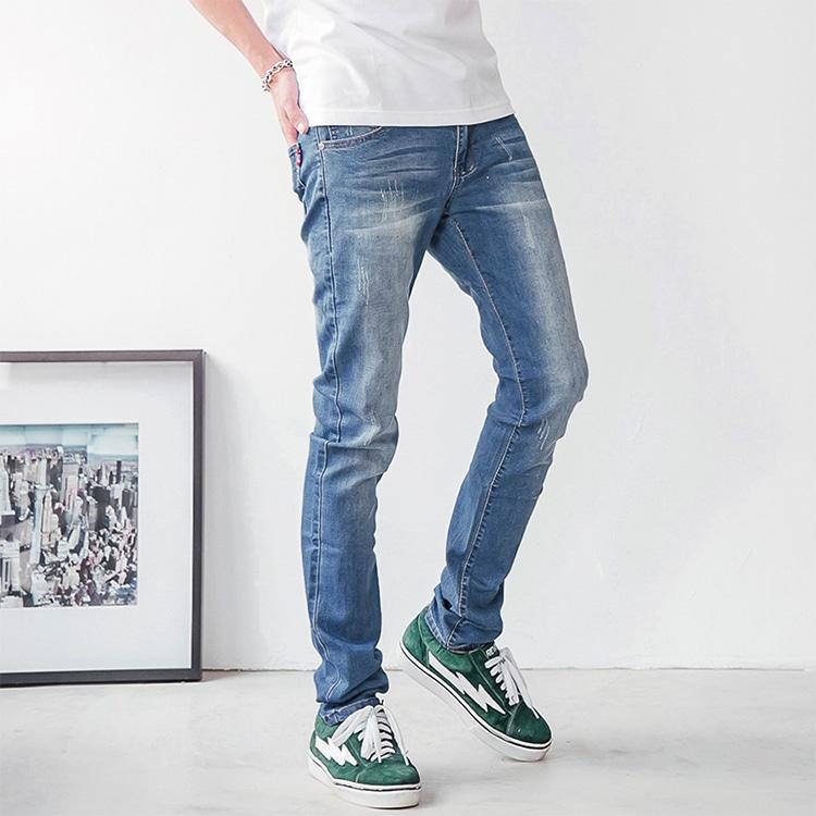 人人必備.刷白基本款牛仔褲,,,03010654,人人必備.刷白基本款牛仔褲,