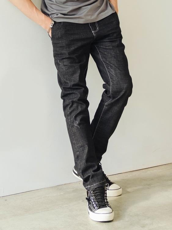 硬派率性 彈力修身牛仔褲