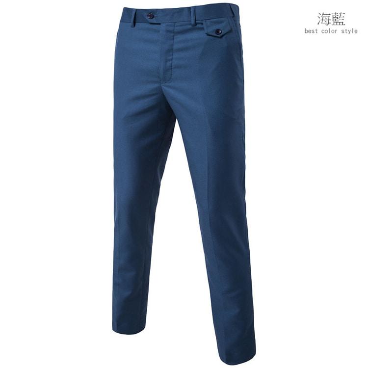 經典單品.布釦設計西裝褲,,,03020073,經典單品.布釦設計西裝褲,