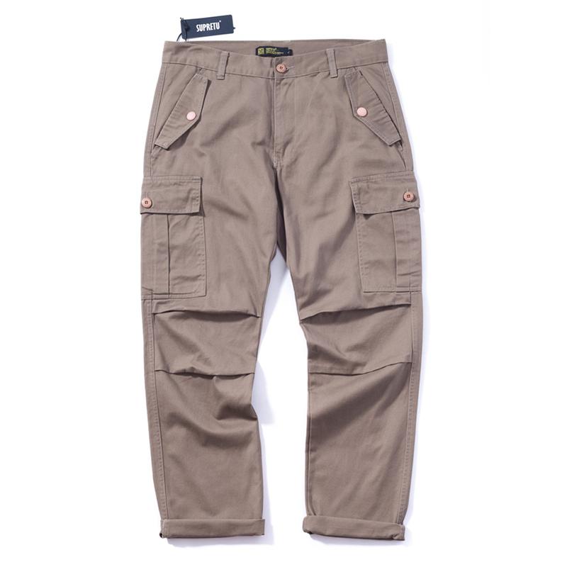 剪裁摺痕造型.多口袋反摺工作褲,,,03030035,剪裁摺痕造型.多口袋反摺工作褲,
