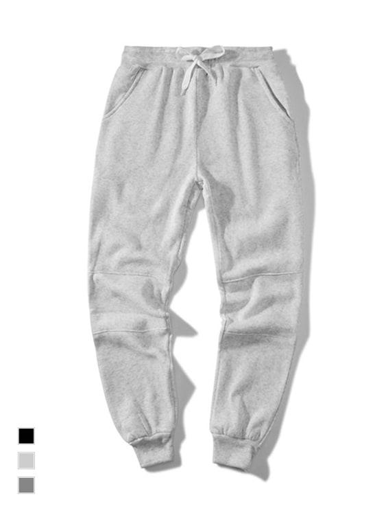 MIT素面拼接縮口棉褲,,,03050251,MIT素面拼接縮口棉褲,