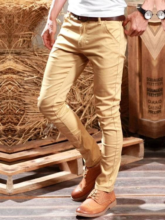 經典多色全素.口袋壓線拼皮標.休閒長褲,,,03060207,經典多色全素.口袋壓線拼皮標.休閒長褲,