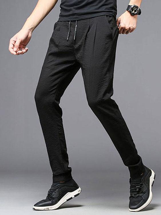 冰絲涼感長褲.舒爽輕薄設計