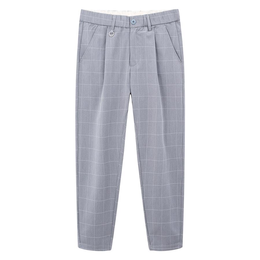 潮流格紋直筒西裝褲,,,03060312,潮流格紋直筒西裝褲,