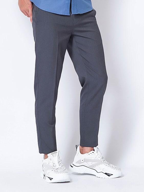 時尚感九分修身西裝褲,,,03060313,時尚感九分修身西裝褲,