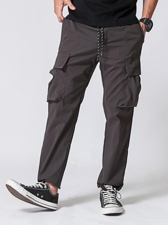 經典大口袋工裝抽繩長褲