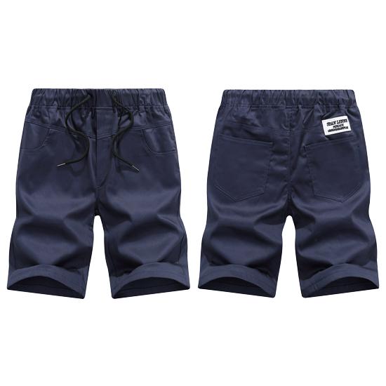 夏日多彩配色‧抽繩鬆緊休閒短褲,,,03070345,夏日多彩配色‧抽繩鬆緊休閒短褲,
