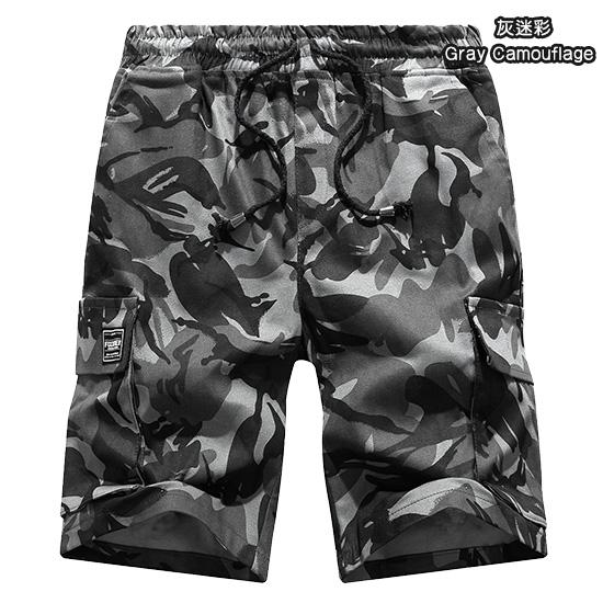 夏日多色工作褲‧大口袋設計迷彩抽繩短褲,,,03070380,夏日多色工作褲‧大口袋設計迷彩抽繩短褲,