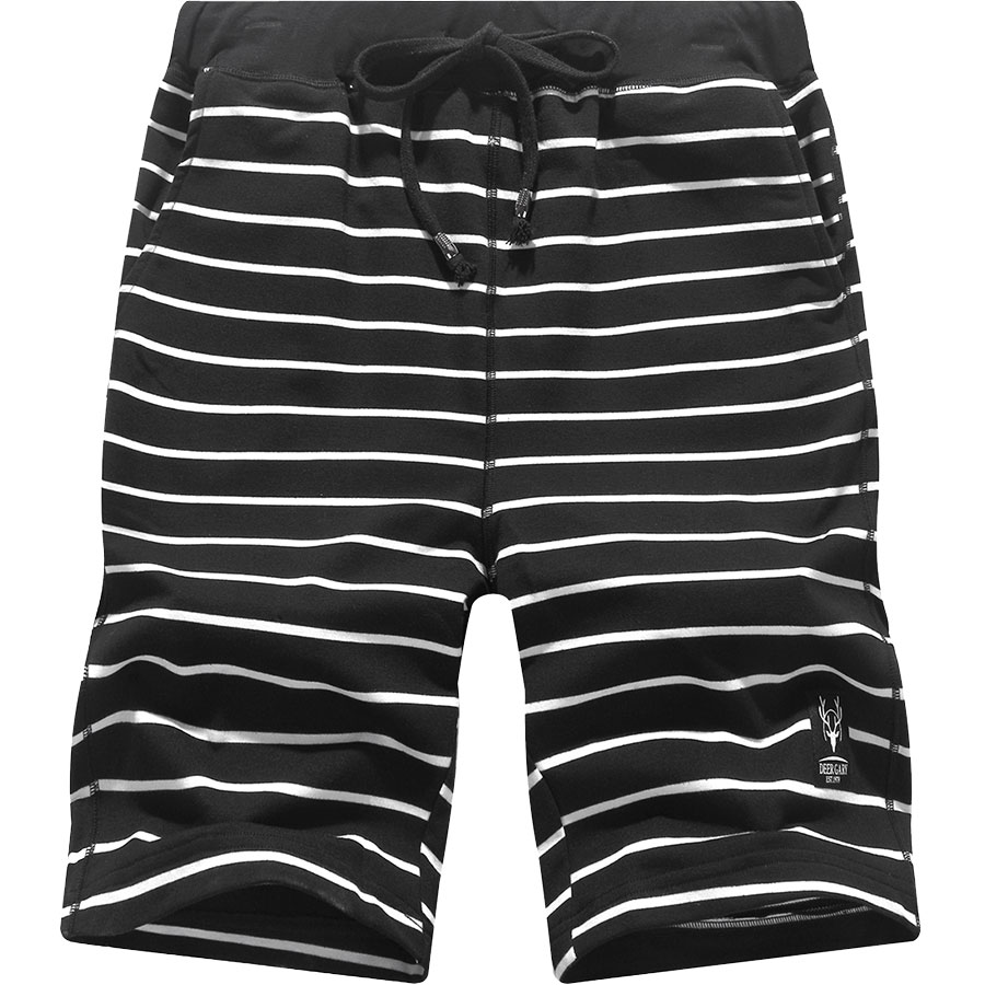 美式風格休閒褲.條紋舒棉抽繩短褲,,,03070556,美式風格休閒褲.條紋舒棉抽繩短褲,