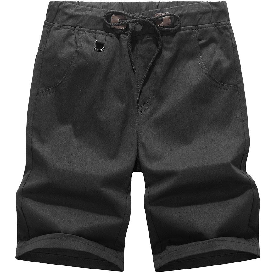 美式簡約單品.膠印英文抽繩設計短褲,,,03070578,美式簡約單品.膠印英文抽繩設計短褲,