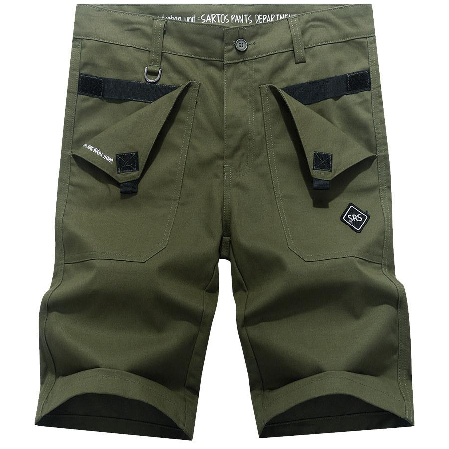美式風格.反折織帶設計工作短褲,,,03070658,美式風格.反折織帶設計工作短褲,