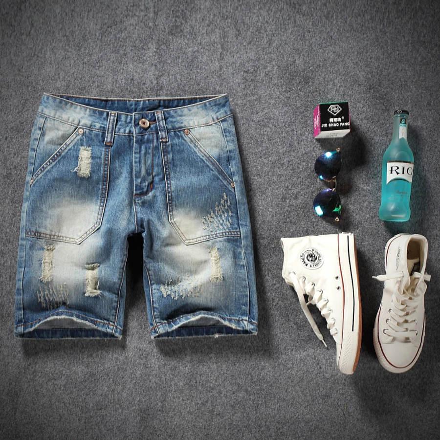 型男必備短褲.刷破方口袋設計短褲,,,03070664,型男必備短褲.刷破方口袋設計短褲,