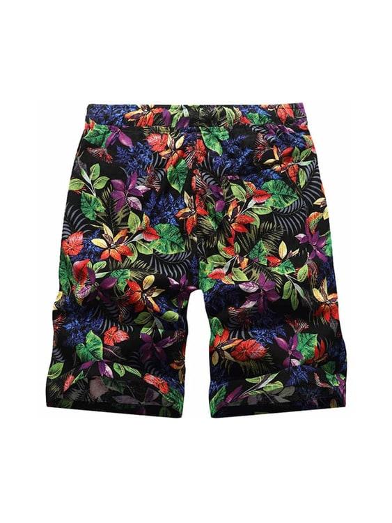 滿印版花系列.煥彩叢林抽繩短褲,,,03070695,滿印版花系列.煥彩叢林抽繩短褲,