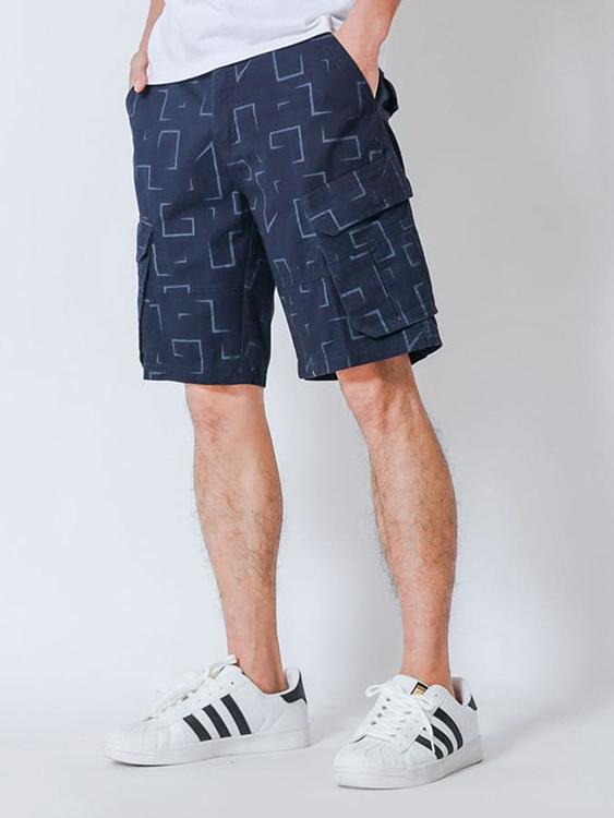 滿版幾何.休閒短褲