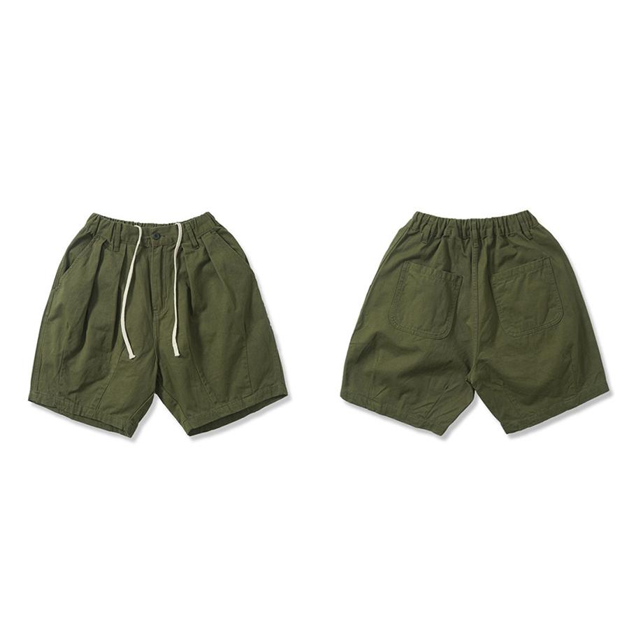 寬版舒適.素面休閒短褲,,,03070859,寬版舒適.素面休閒短褲,
