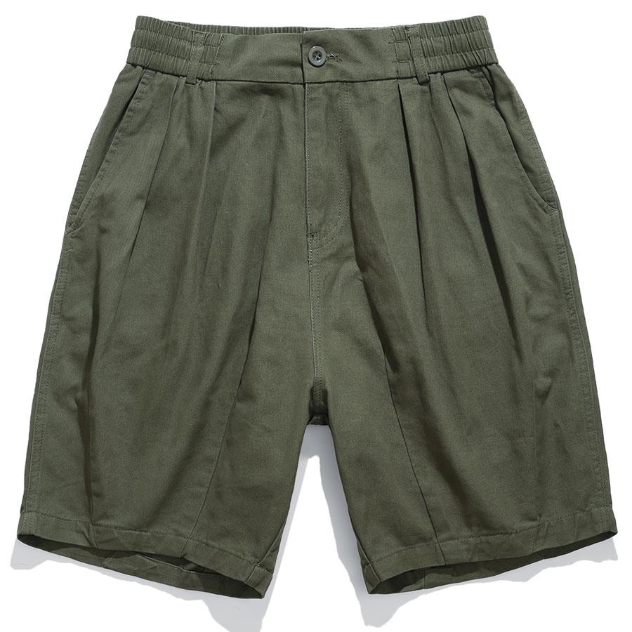 美式繭形.半鬆緊休閒短褲,,,03070872,美式繭形.半鬆緊休閒短褲,