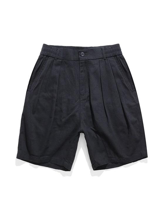 美式繭形.半鬆緊休閒短褲