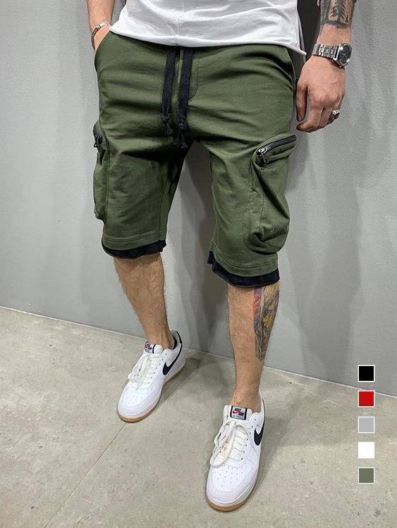 立體口袋.多層次休閒短褲