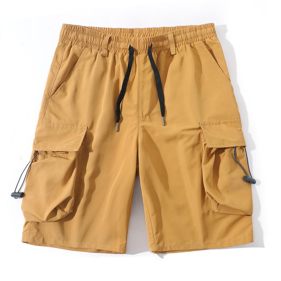 機能工裝風.滑面口袋短褲
