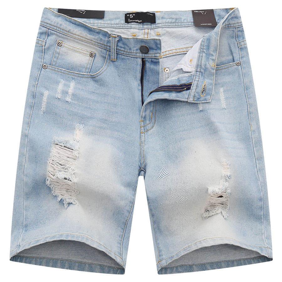 水洗破壞感牛仔短褲