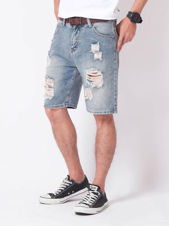 個性刷破百搭牛仔短褲