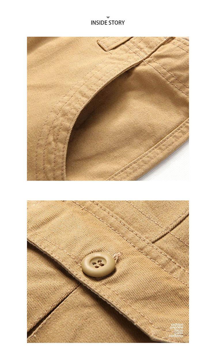 素面基本款 多口袋工裝短褲