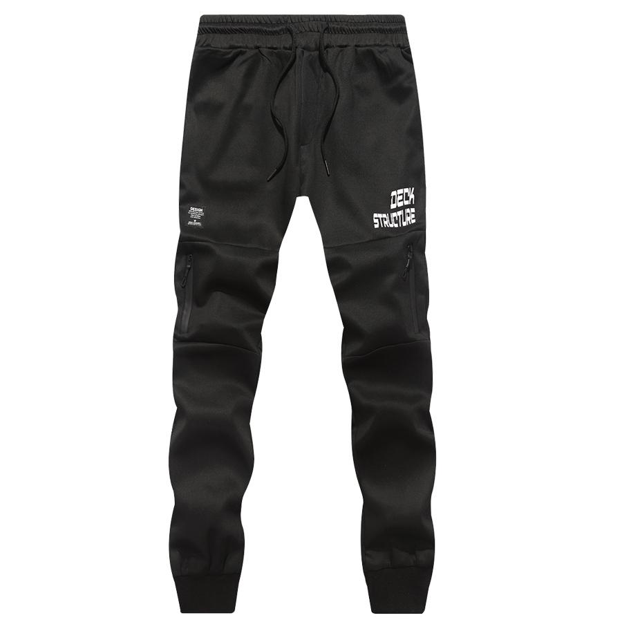 防水拉鍊設計.撞色太空棉縮口褲,,,03090106,防水拉鍊設計.撞色太空棉縮口褲,