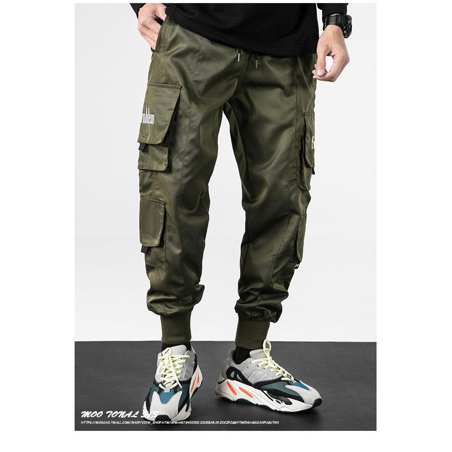 電繡英文字設計.工裝風格縮口褲,,,03090127,電繡英文字設計.工裝風格縮口褲,