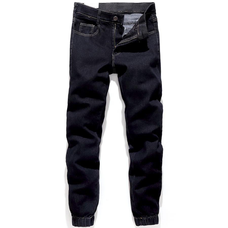 男人衣櫃必備.彈力帶設計素面縮口丹寧褲,,,03090141,男人衣櫃必備.彈力帶設計素面縮口丹寧褲,