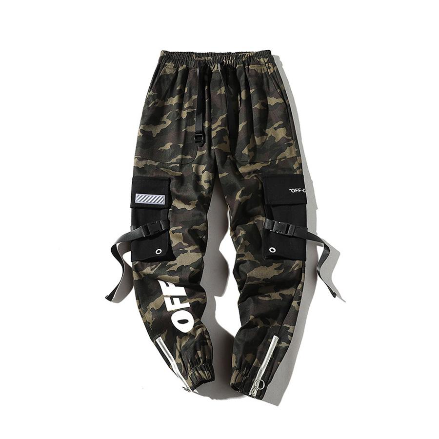 CAMO.鐵制拉練迷彩縮口褲,,,03090163,CAMO.鐵制拉練迷彩縮口褲,