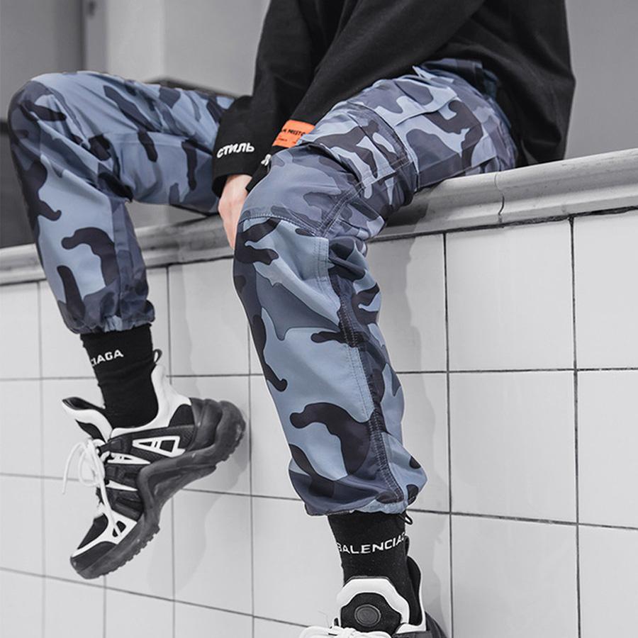 軍式潮人單品.迷彩抽繩縮口褲,,,03090164,軍式潮人單品.迷彩抽繩縮口褲,