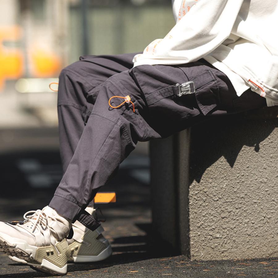 橘色抽繩.褲腳可調縮口褲,,,03090195,橘色抽繩.褲腳可調縮口褲,