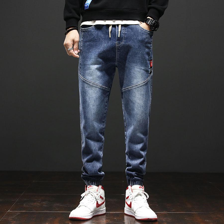 立體剪裁.紅標牛仔縮口褲,,,03090253,立體剪裁.紅標牛仔縮口褲,