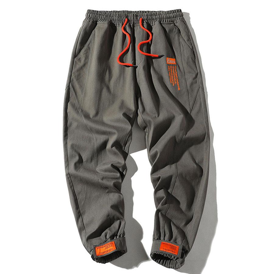 撞色抽繩素色工裝縮口褲,,,03090260,撞色抽繩素色工裝縮口褲,