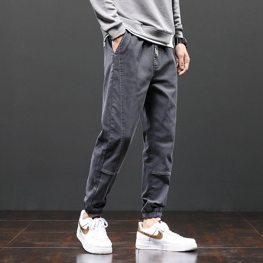 車線造型.立體剪裁縮口牛仔褲,,,03090262,車線造型.立體剪裁縮口牛仔褲,
