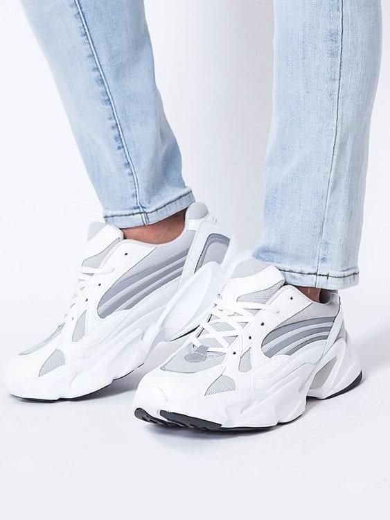流線型反光潮流休閒鞋