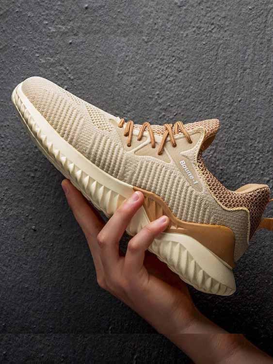 飛織透氣拼色造型休閒鞋