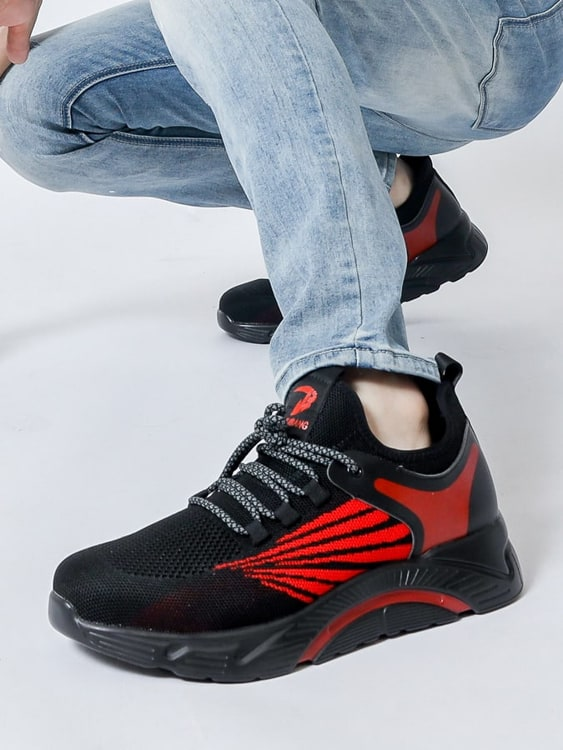 防砸防刺 透氣拼色時尚鋼頭鞋