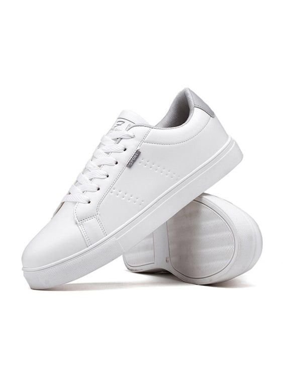 休閒皮革透氣簡約小白鞋