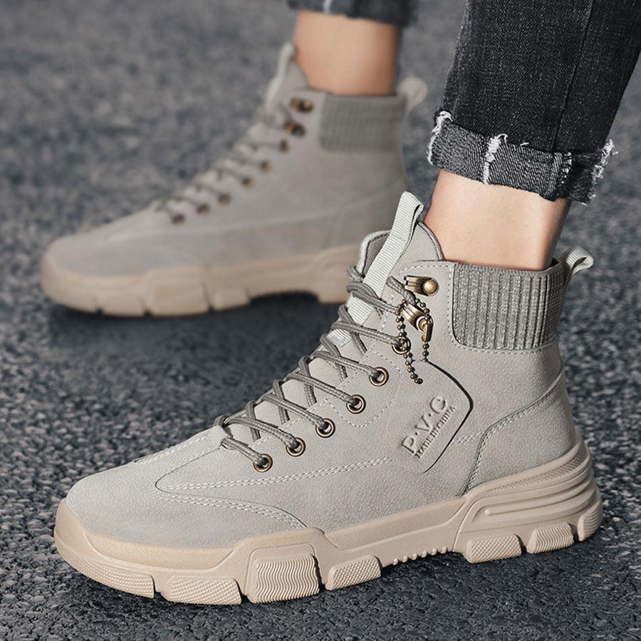 都市旅者.皮革拼接高筒鞋靴,,,05030150,都市旅者.皮革拼接高筒鞋靴,