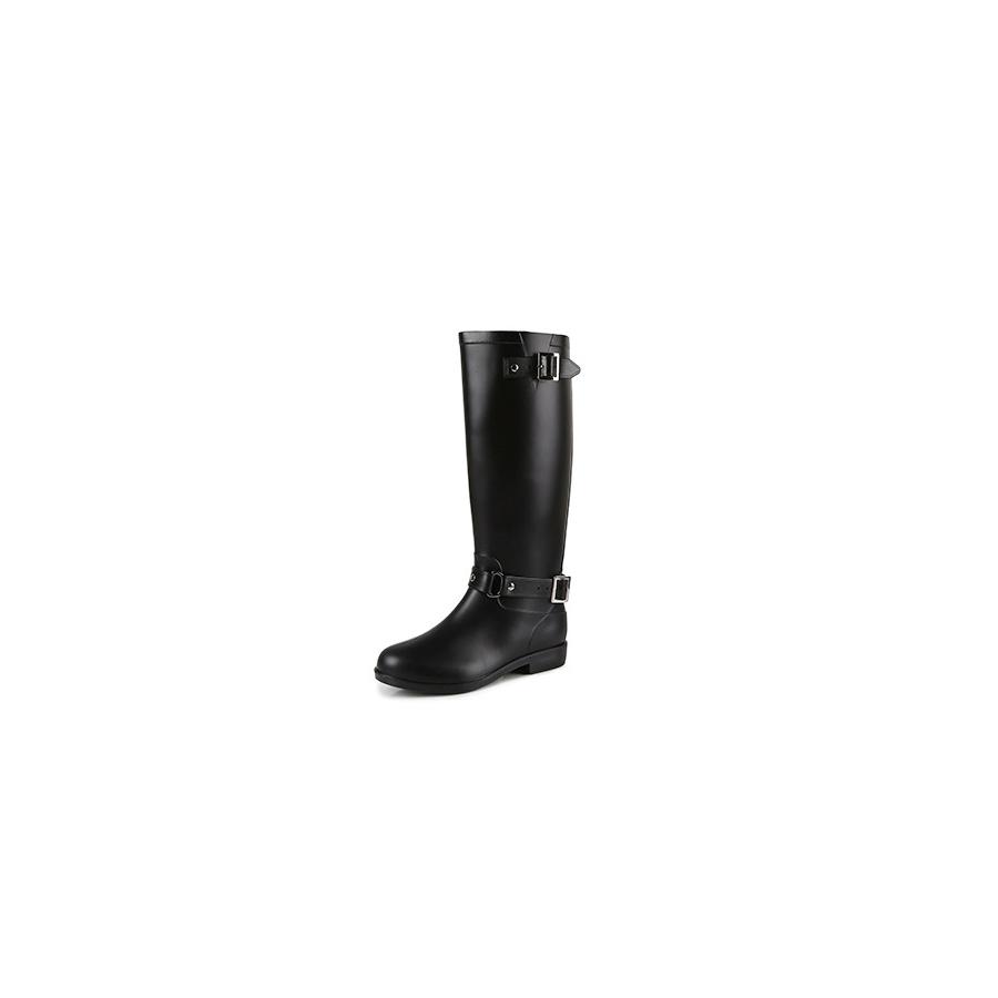 後拉鍊易穿脫.美型飾釦高筒女款雨鞋雨靴,,,51008050,後拉鍊易穿脫.美型飾釦高筒女款雨鞋雨靴,