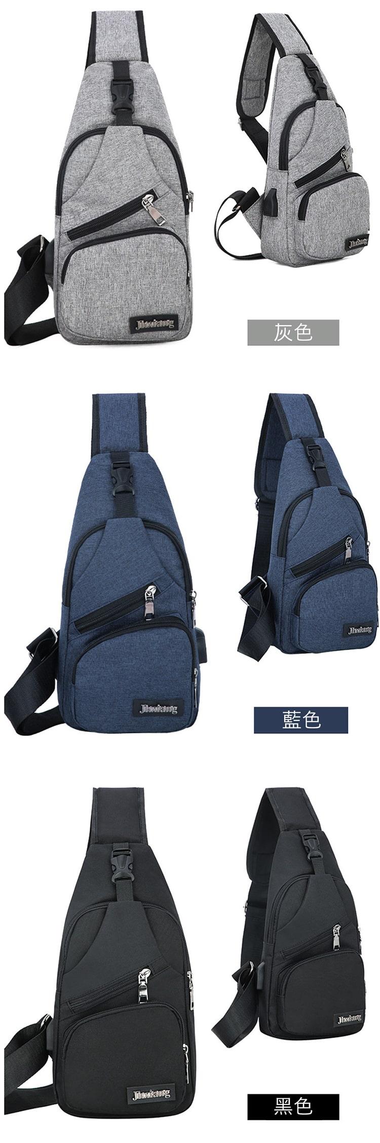 實用有型單品.帆布設計多功能斜背包
