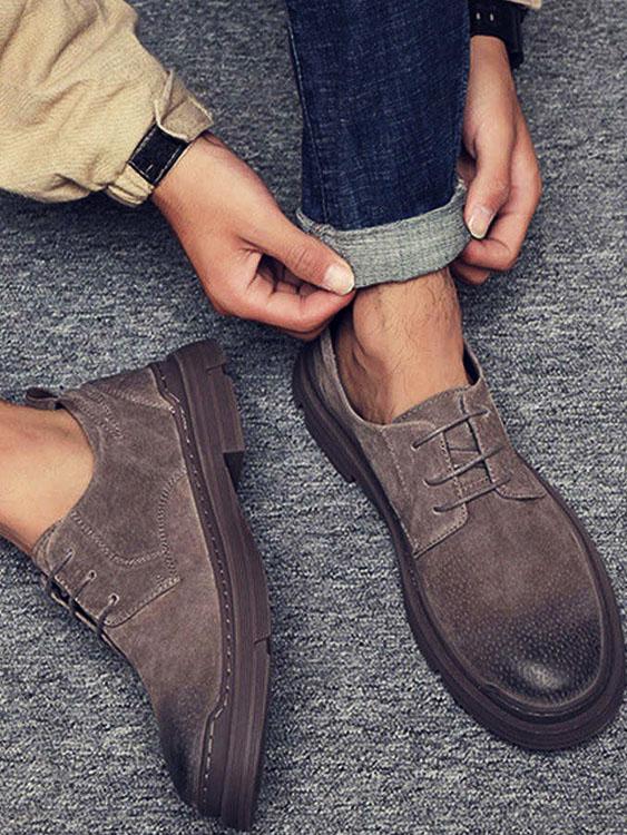 簡約氣質 精緻刷染休閒皮鞋