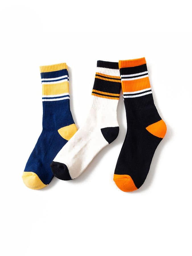 潮流拼色造型中筒襪