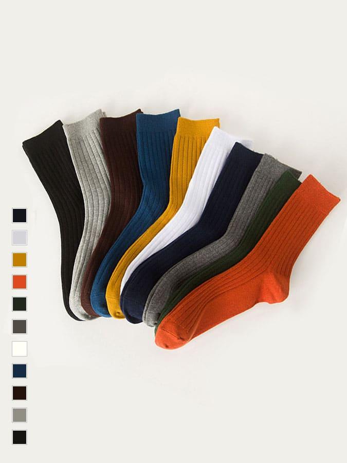 點綴穿搭純色中筒襪.3雙起.顏色任選