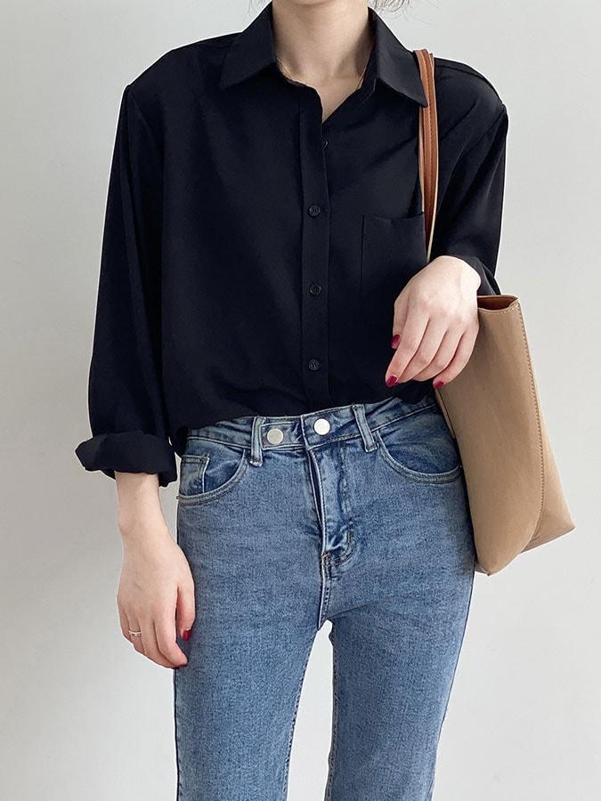 經典絲滑抗皺質感長袖襯衫