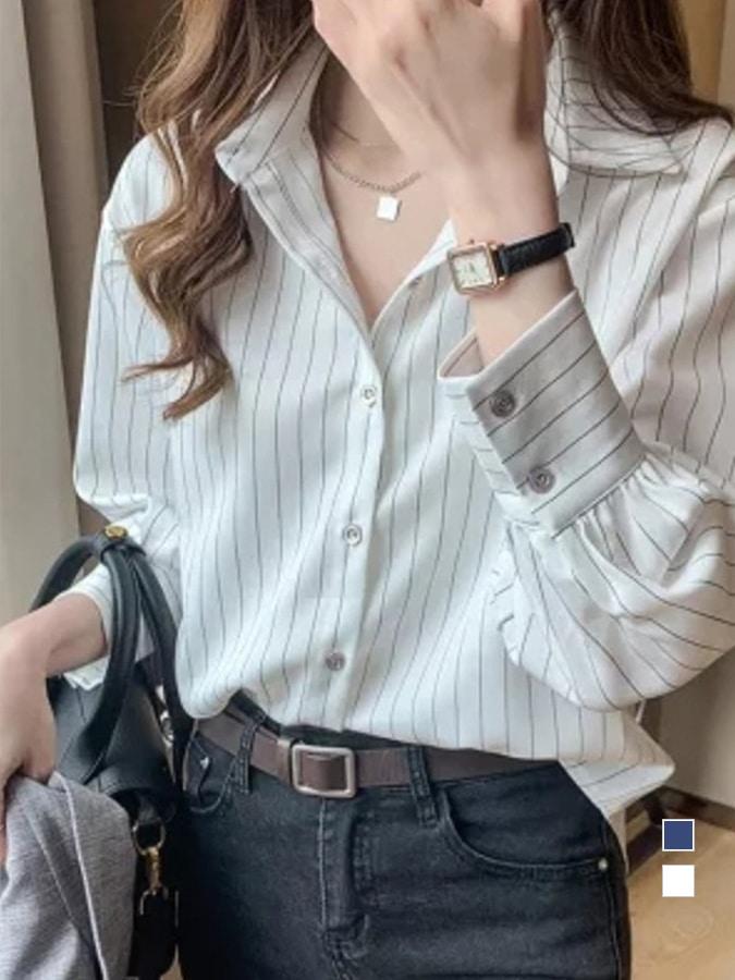 質感直條紋襯衫