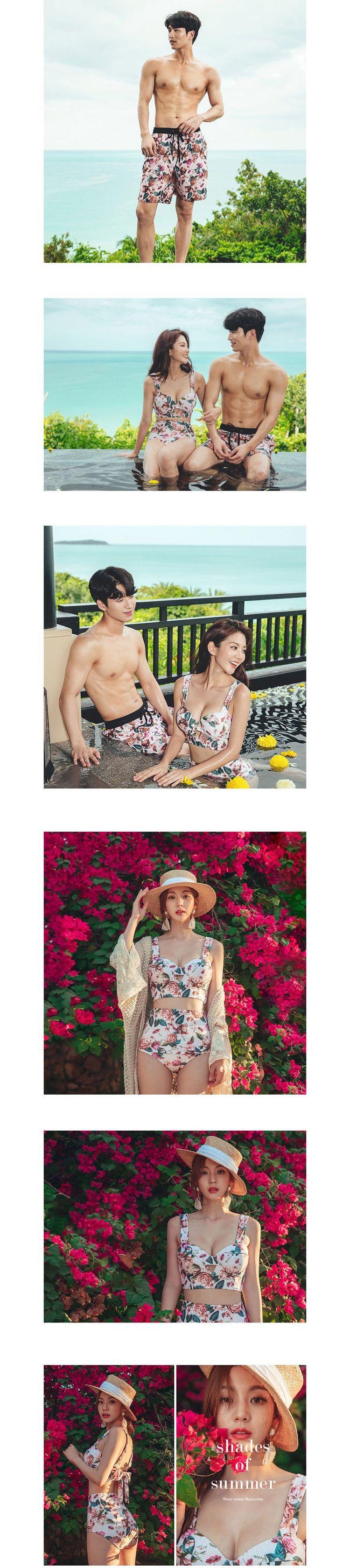韓國性感兩件式泳裝.情侶款