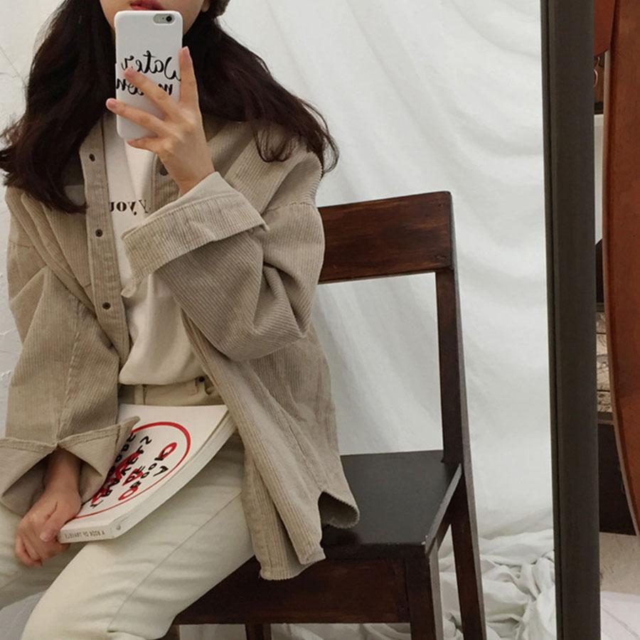 韓版百搭保暖燈芯絨外套,,,K2010030,韓版百搭保暖燈芯絨外套,