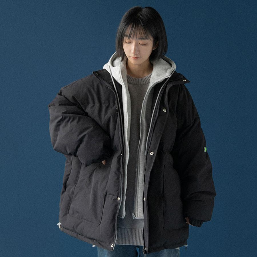 極暖假兩件連帽鋪棉厚外套